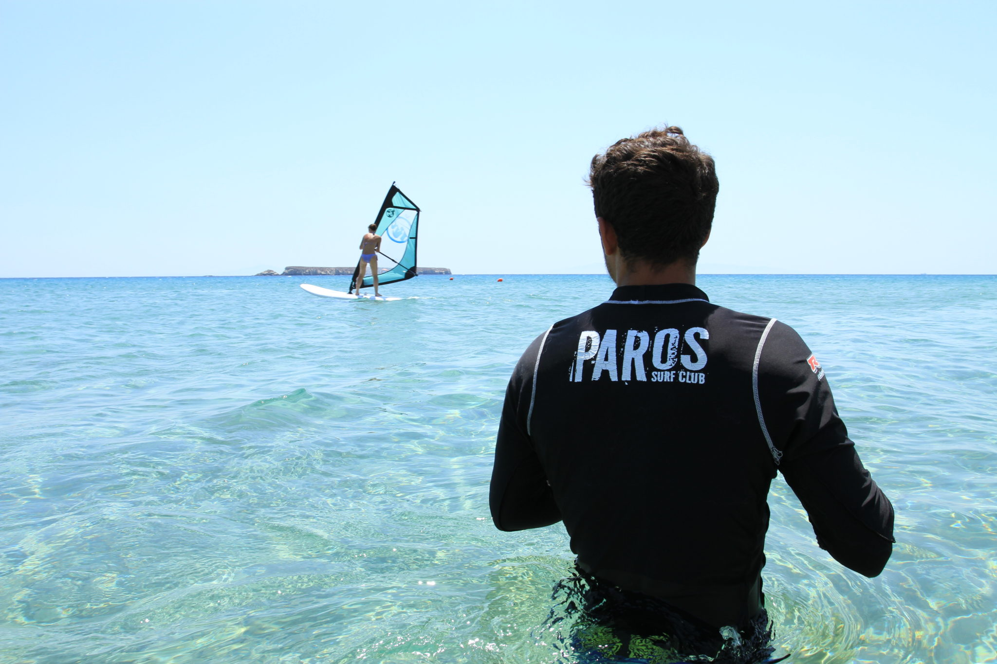 Paros windsurf lessons new golden beach