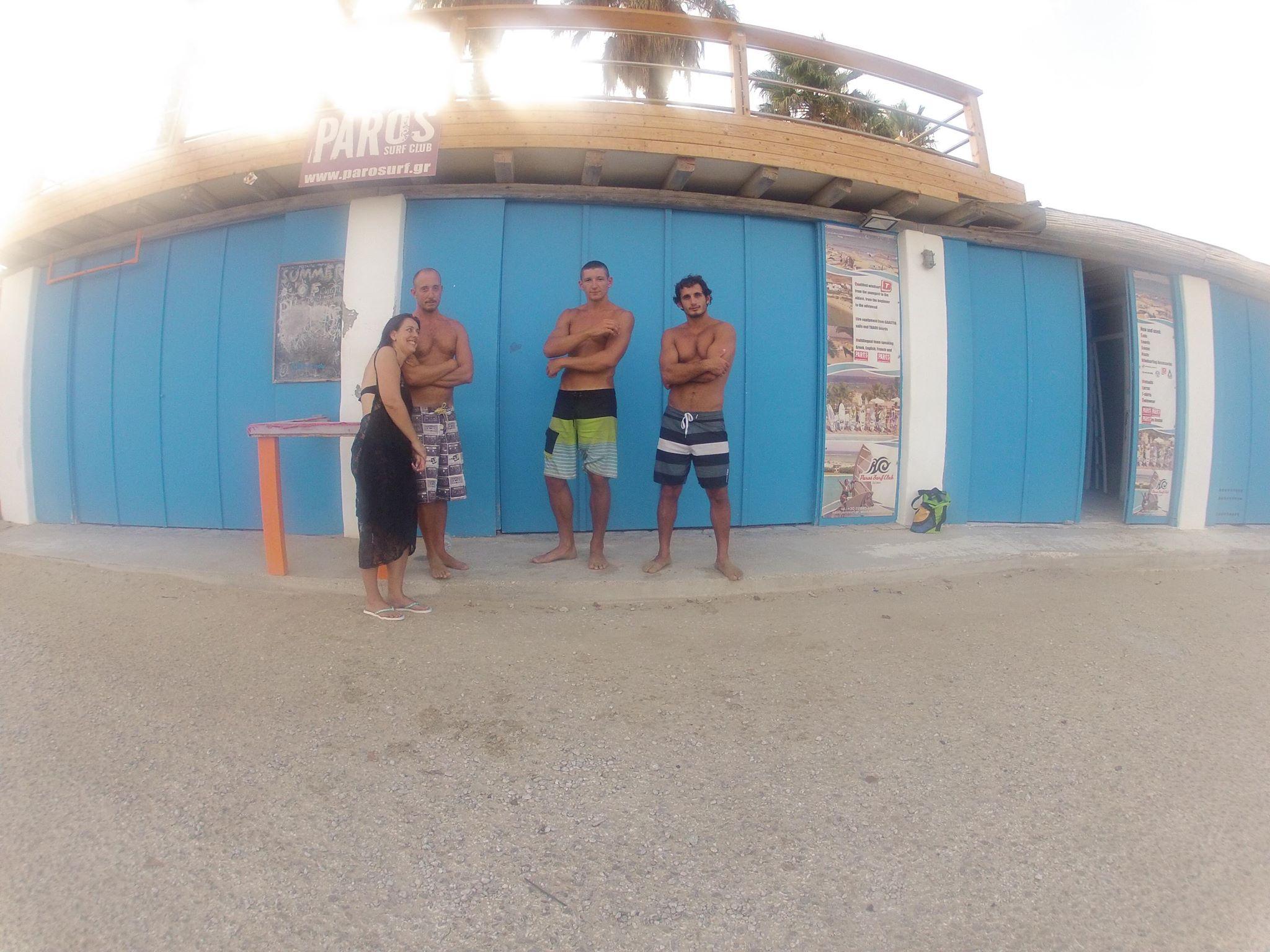 Paros surf club members